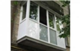 Balcony frames, windows from REHAU profile
