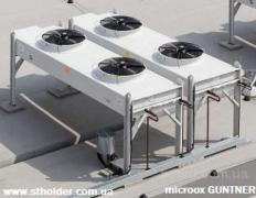 Dry and irrigated cooling towers (dry coolers), shockfrosters, air coolers GUNTNER
